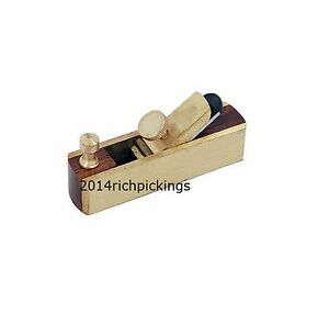 Brass Mini bull nose Woodworking Plane Carpenters Craft Hobby Model Making Tools