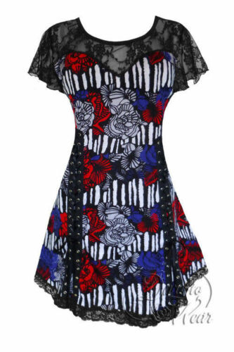 Dare To Wear Gothic Pin Up Boho Plus Size Roxanne Corset Top American Girl