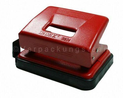 hansa werke Locher INDEX Exact Metall mit Anschlagschiene für 15 Blatt rot