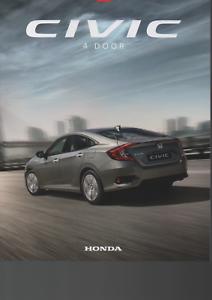 Civic 4 Door UK Sales Brochure 2019 HONDA