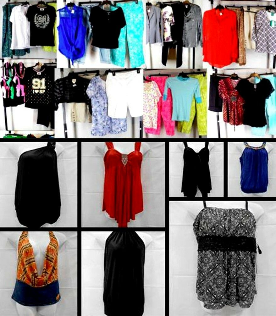 New Lot 15 Women tops Junior Apparel Mixed Summer dresses Club Wholesale S Small