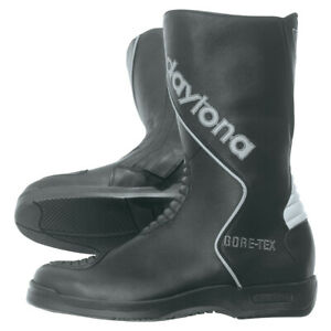 Daytona-Voyager-GTX-Mens-Motorcycle-Boots-Leather-Black