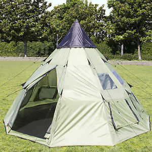 Best Choice Products 10x10 Teepee Camping Tent Family Outdoor Sleeping Dome W/