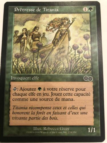 Mtg 1x priest of titania urza/'s saga french priestess of titania 2 available