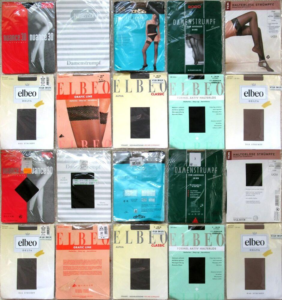 10 X Bas-elbeo-omsa-esda - Calme-vintage-taille 38 - 40