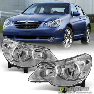 Image Is Loading 2007 2010 Chrysler Sebring 4dr Sedan Headlights Headlamps