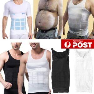 93e9e1d758 2018 Men s Slim Body Shaper Belly Fatty Underwear Vest Shirt Corset ...