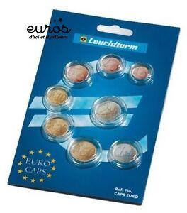 Jeu-de-8-capsules-pour-serie-d-039-euro-De-la-1-centime-a-la-2-euro-LEUCHTTURM