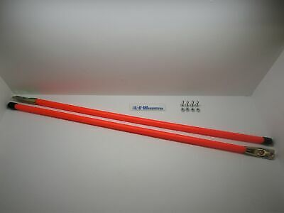 Universal 36 Orange Snow Plow Blade Markers 6 Guides for Boss Meyer Western