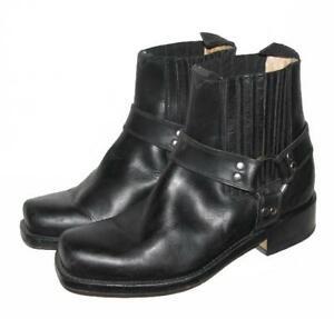 034-COYOTE-034-Herren-Stiefeletten-kurze-Biker-Stiefel-Boots-in-schwarz-Gr-42