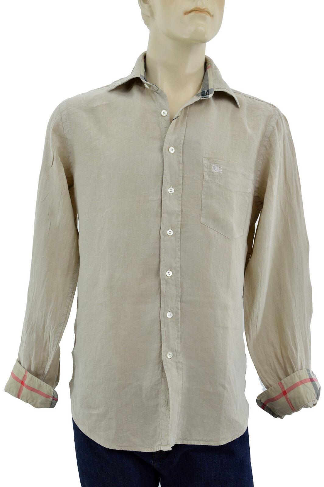 275 Burberry London Trench Linen Casual Dress Men 39 S Shirt