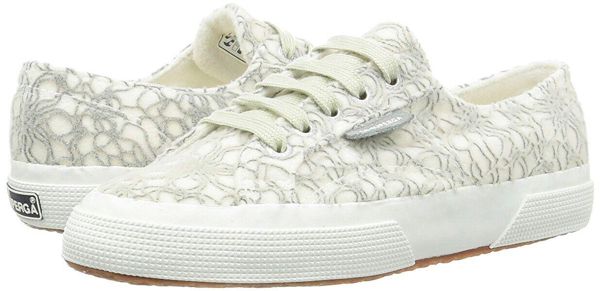 Superga Cristal Micropolar Difusa blancoo gris Tenis Tenis Tenis Zapatos para mujer 9 mandriles Nuevo  hasta un 50% de descuento