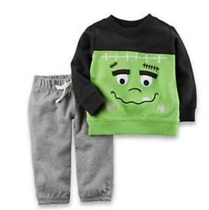 NWT-CARTERS-BOYS-TWO-PIECE-HALLOWEEN-TOP-amp-PANTS-SET-SIZE-3-MONTHS-OR-6-MONTHS