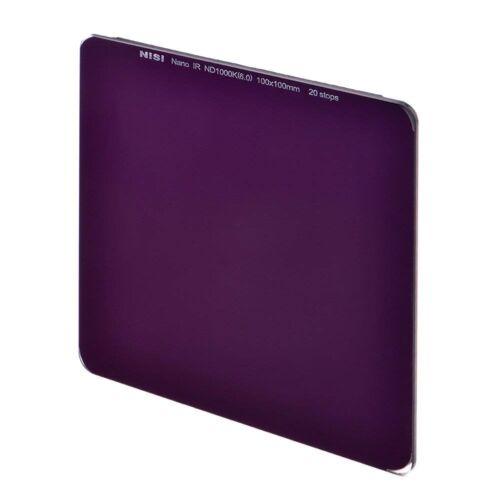 Nisi 100x100mm 20 Stop 6.0 Filtro de Densidad Neutra Ultra larga exposición