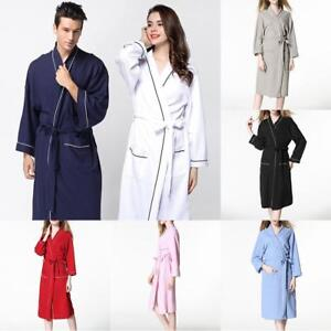 Image is loading Womens-Ladies-Towelling-Bath-Robe-Dressing-Gown-Soft- a0eb5985f2