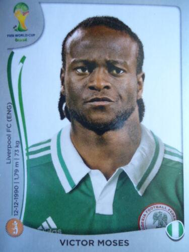 Panini 482 Victor Moses Nigeria FIFA WM 2014 Brasilien