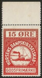 Denmark-1935-Horsens-Parcel-Post-Local-Ferry-Boat-15o-Red-F-VF-NH