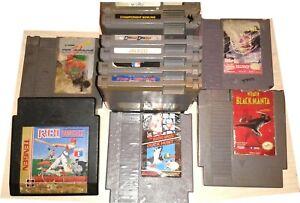 11 Dirty Game lot Nintendo NES Tecmo Super Bowl Mario Duck Hunt Life Force