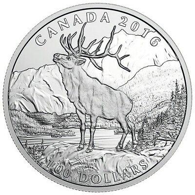 Silbermünze Kanada 100$ 2016 PP Elch 999,9er Silber 1oz im Etui