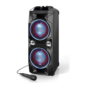 Sharp-PS-940-180W-Rechargeable-Bluetooth-Portable-Party-Speaker-with-Disco-Light