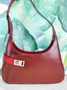 Image is loading 650-SALVATORE-FERRAGAMO-Red-Leather-Gancini-Hobo-Shoulder- 17a4f64d114fe