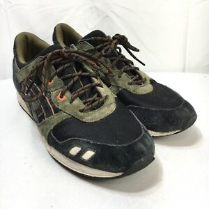 pretty nice 4e170 d71f2 Asics Gel Lyte iii Mens 13 Black White Green Suede Leather ...