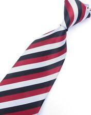 Regalos Para Hombres Clásico Para hombres Corbata Corbata Seda A Rayas Finas Rayas Rojo Negro Blanco