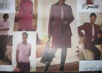 Pattern 12-16 Or 18-22 Dress Skirt Pants Top & Lined Jacket V2597