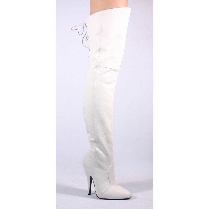 consegna gratuita e veloce disponibile PLEASER Legend - 8899 Bianco Bianco Bianco coscia alta Stivali in Pelle  la migliore selezione di