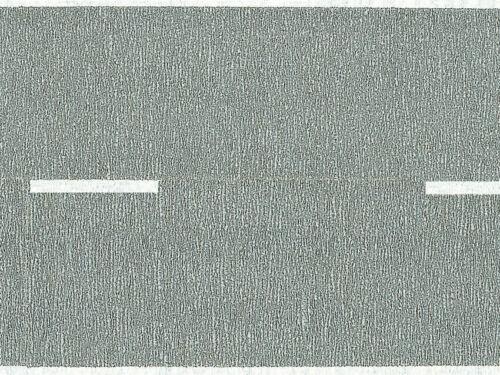 aufgeteilt in 2 Rollen 100x5,8 cm 60470 Noch HO Bundesstraße grau Modell