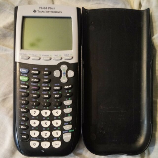 TI-84 Plus Graphic Calculator/Cover, Screen has Light Cloudy Spots See Picture