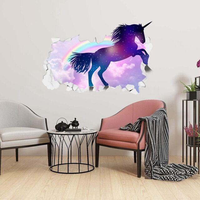 Girls Kids Bedroom Purple Fly Unicorns Wall Stickers 3d Broken Wall Decal Ti For Sale Online,Hemingway Home Key West Florida