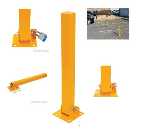 Silverline Square Folding Parking Post Security Driveway Ballard Bolts Lock Keys