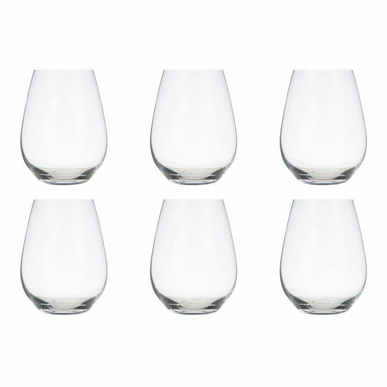 NEW Krosno Vinoteca Stemless White Wine Glass, 400ml (Set of 6)