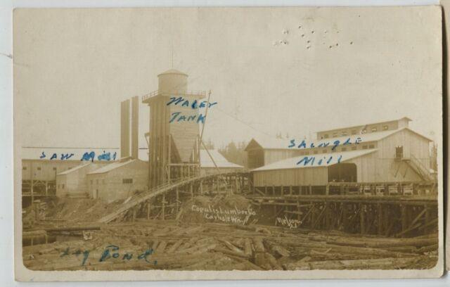 1910 era Carlisle Washington Saw Mill Real Photo Postcard RPPC