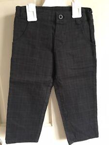 BNWOT-Miniclub-Trousers-Boys-Age-4-5-Years-Black-Pin-Stripe