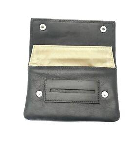 Premium-Soft-Black-Leather-Cigarette-Rolling-Tobacco-Pouch-Case-Organizer