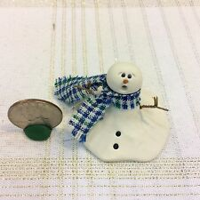 PRIMITIVE FOLK ART HANDMADE OOAK POLYMER CLAY MELTING SNOWMAN