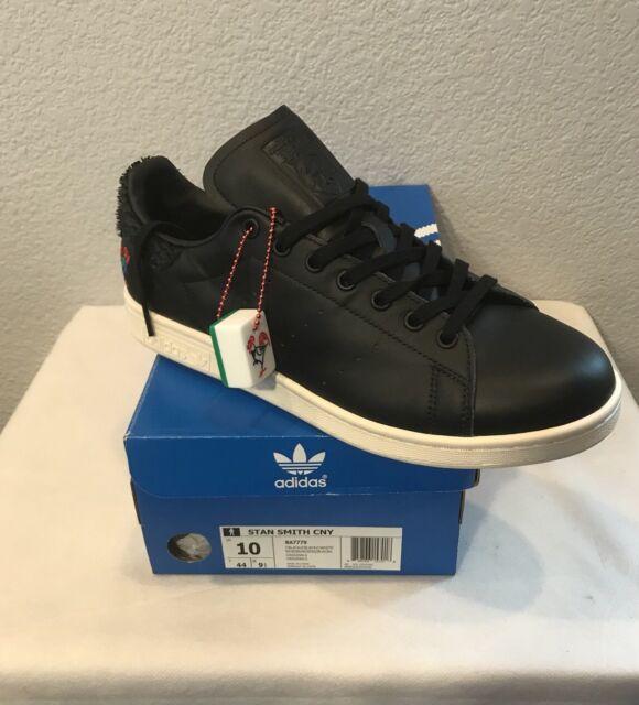 NEW Adidas Originals Stan Smith CNY Shoes (Limited) BlackWhite (BA7779) Men 10