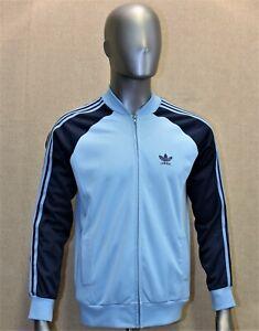 Veste survêtement ADIDAS VENTEX Vintage 70 bleu taille M made in France