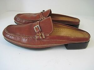 bc4336be412 Vintage Cole Haan Country Women s Brown Leather Loafers Mules Slides ...
