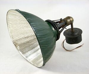 Vtg-Curtis-410-Mercury-Reflective-Shade-Lamp-Industrial-Light-Fixture-Working