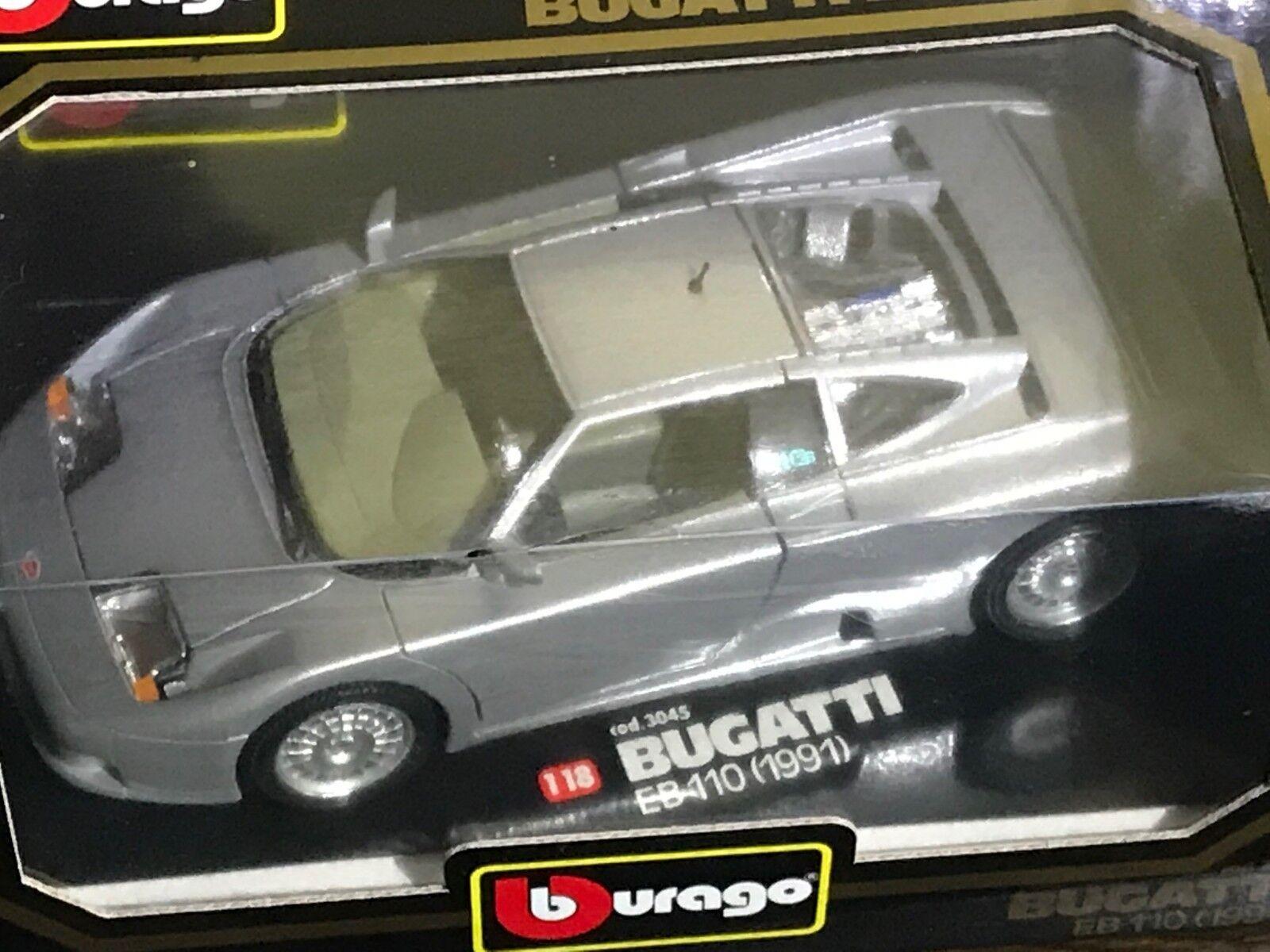 Burago 1 18 18 18 Bugatti EB 110 1991 la-Cast modelo auto OVP b38b80