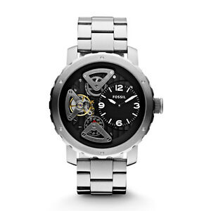 788b2729a Fossil Men's Twist Automatic Watch Silver with Black Face ME1132 Non ...
