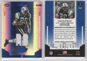 3f74de3a1 Details about 2004 Leaf Certified Materials Mirror Blue Memorabilia  83 Curtis  Martin Card