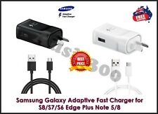 GENUINE SAMSUNG FAST Wall Charger + Cable For Galaxy S8 S9 S7 S6 Edge+ Note 8 9