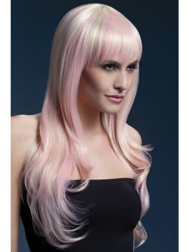 Blonde Candy Fever Sienna Wig 26in//66cm Adult Womens Smiffys Fancy Dress Costume