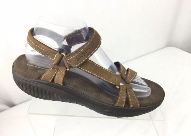 Details about Skechers Women's size 10 Shape Ups Toning 12290 Brown Ankle Strap Sandals Shoes