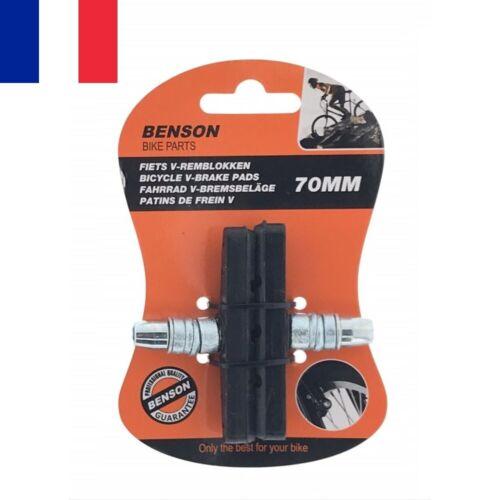 2 X Patins de Frein en V 70 mm pour Vélo VTT VTC Pads Blocs d/'Arrêt Freinage