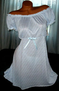 Baby-Blue-2-Piece-Nightgown-Babydoll-Short-Gown-1X-Matching-Panty-Plus